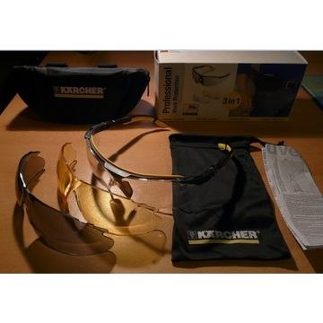UVEX okulary (zestaw: 3 szybki/szkła oraz etui)