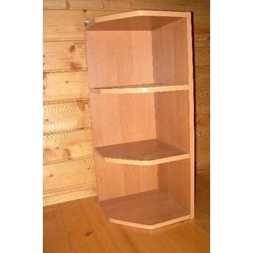 Półka drewniana rogowa