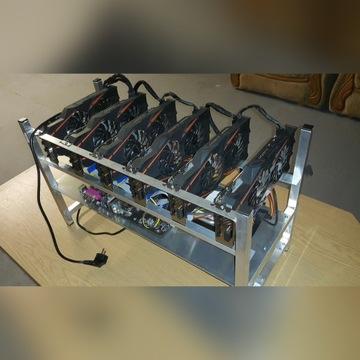Koparka Kryptowalut 6x GTX 1070 180MH/S Komputer