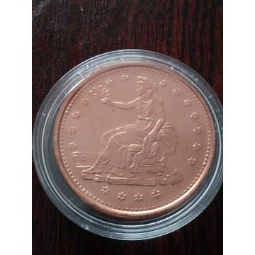 Moneta kolekcjonerska z miedzi