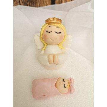Figurka na chrzest aniolek dzieciatko