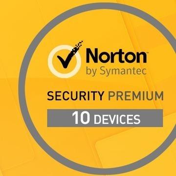 Norton Security Premium 1 ROK 10 PC+BONUS PL