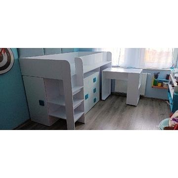 Łóżko młodzieżowe piętrowe z biurkiem