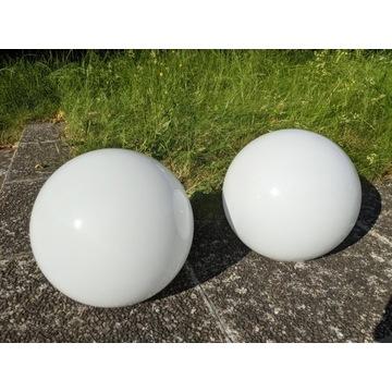 Zestaw 2x szklany klosz kula mleczna 22cm otw 11,8
