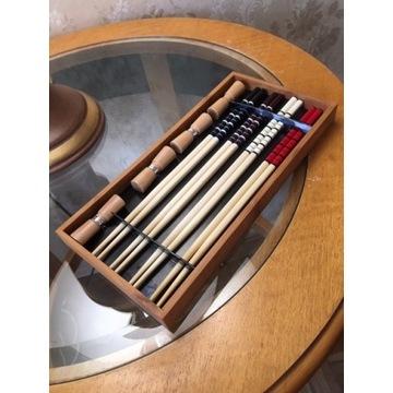 Pałeczki Chińskie Japońskie Drewniane + Podstawki