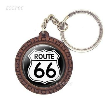 """Brelok do kluczy motocyklowy """" Route 66 """""""