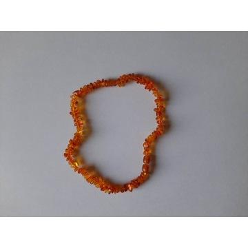 Naszyjnik koraliki korale z bursztynu dla dziecka