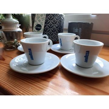 4 Filiżanki do kawy Lavazza espresso 90ml + spodki