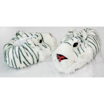 NOWE 36-40 kapcie tygrysy zwierzęta