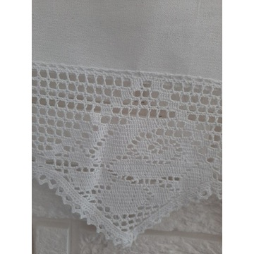 IZA Stylowa zazdrostka firana 50x150 biała bawełna