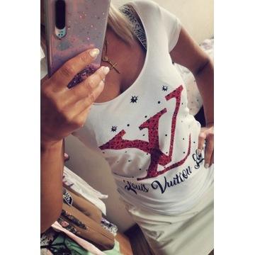 Bluzka koszulka LV cyrkonie roz S/M