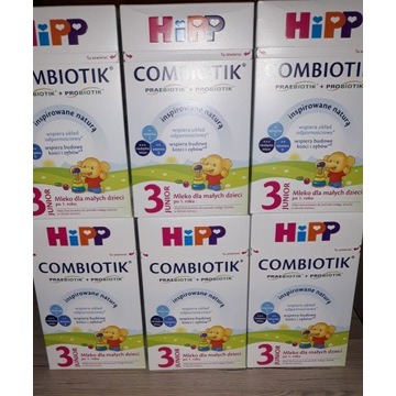 Mleko HIPP Combiotik 3 600g x 6opakowań