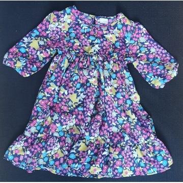 Next letnia sukienka w kwiaty roz 128