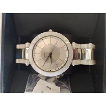 DKNY DONNA KARAN NY2288 ceramika srebrny zegarek