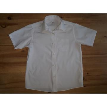 Biała koszula z krótkim rękawem Marks&Spencer 134