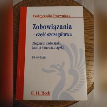 Zobowiązania część szczegółowa Radwański wyd. 10