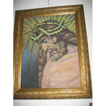 Roman Wilkosz - Głowa Chrystusa w koronie