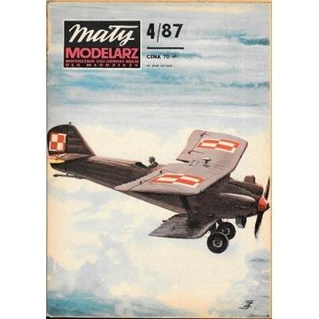 Mały Modelarz 4 1987 BREGUET XIX samolot model1:33