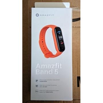 Smartband Amazfit Band 5 nowy, gwarancja, SpO2,