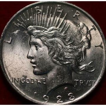 1 dolar USA - Peace Dollar 1923 - stan menniczy