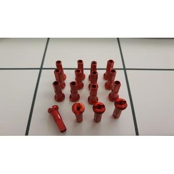 Nypel szprych czerwony 14mm 2.0 chyba Swiss 100szt