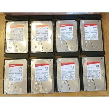 Osiem HDD Toshiba P300 3TB (8x 3TB= 24TB) rok GWAR