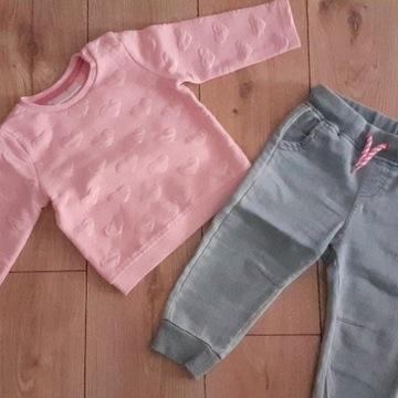 Spodnie Cool Club 80cm+ Bluza 74cm
