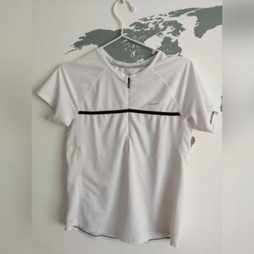 T-shirt bluzka biała, Nike Running Dri-Fit 38 M