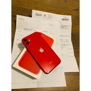 Fabr. NOWY iPHONE 11 128GB RED GWARANCJA APPLE
