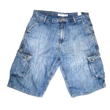 Bojówki jeansowe męskie - 100% bawełna rozm. 32