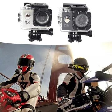 mini kamera narty rower motor pływanie +akcesoria