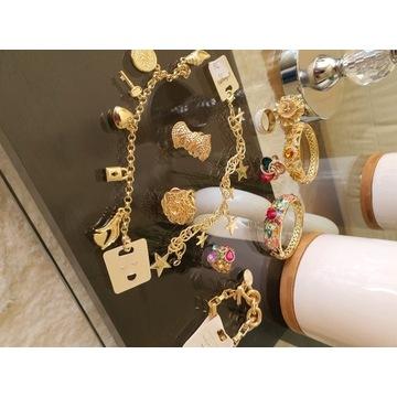Zestaw biżuterii pozłacanej