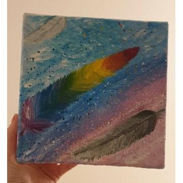 Obraz namalowany farbami akrylowymi na płótnie