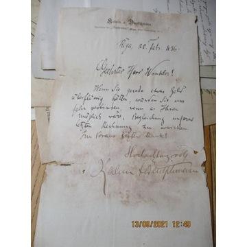 pismo RIGA RYGA ŁOTWA 1896 w j. niemieckim