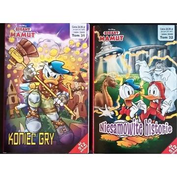 Komiks GIGANT MAMUT tom 31 i 32 (rocznik 2020)