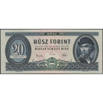 Węgry 20 forintów 1962 - Dozsa - stan bankowy UNC