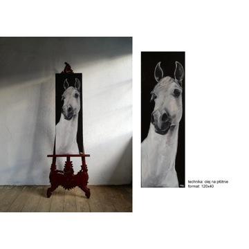 Obraz olejny, konie