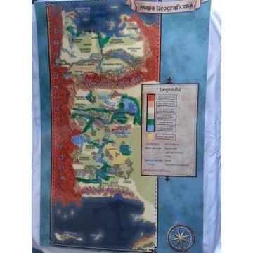 Mapa geograficzna Imperium Lainów