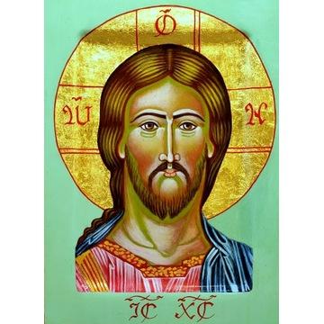 ikona, rocznica, chrzest, prezent, Jezus Chrystus