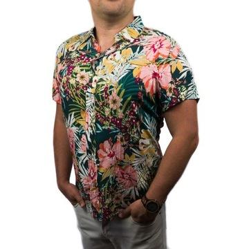 Hawajska koszula krótki rękaw kwiaty NA LATO 2020M