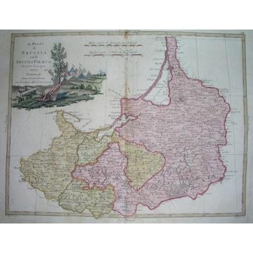 1785 MAPA POLSKA PRUSY GDAŃSK OLSZTYN BYDGOSZCZ