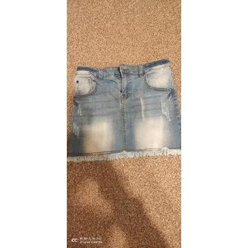 Spódniczka jeansowa r.158