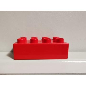 LEGO DUPLO oryginalny klocek czerwony 2x4 WAWA