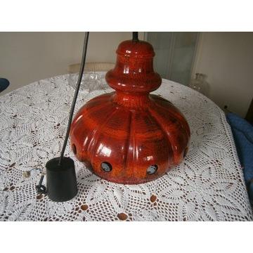 Ceramiczna lampa .West germany lata70