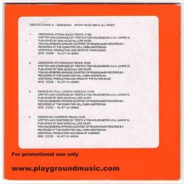 Tiesto & Junkie XL – Obsession (All Mixes)