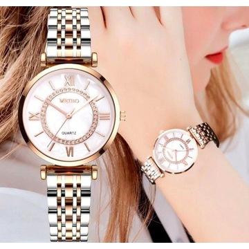 Efektowny Damski klasyczny zegarek Licytacja