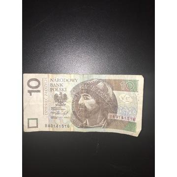 Banknot z unikalnym numerem