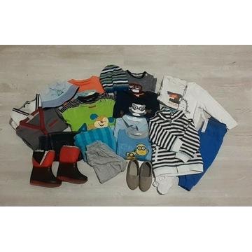 Mega paka zestaw ubrań chłopiec 74/80/86cm