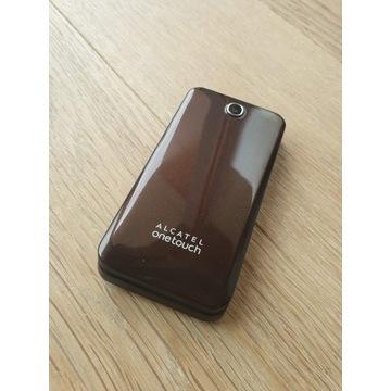 Alcatel OneTouch brązowy z ładowarką