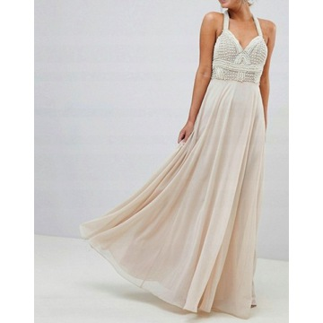 Nowa Sukienka Maxi Asos bogato zdobiona rozmiar M